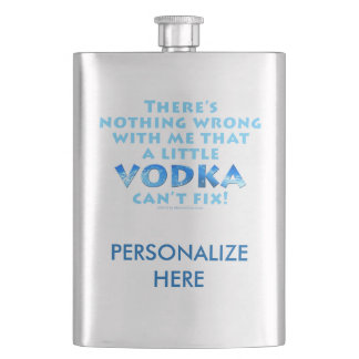 COCKTAIL HIP FLASK - VODKA FIXES EVERYTHING