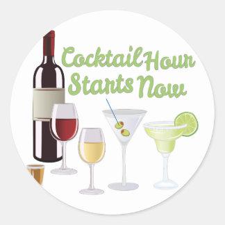 Cocktail Hour Classic Round Sticker