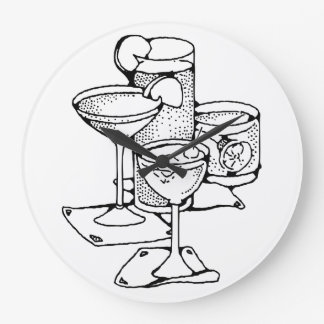 Cocktail Hour Clock