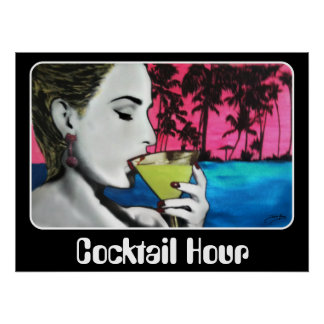 """Cocktail Hour"" on a Poster"