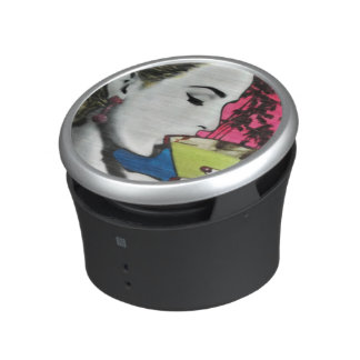 Cocktail Hour painting on a Bumpster Speakers