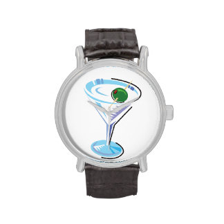 Cocktail Hour_retro-style Martini Glass Watch