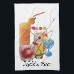"Cocktail Hour Towel<br><div class=""desc"">Variety of cocktails with name.</div>"