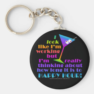 Cocktail Keychains - How Long to Happy Hour