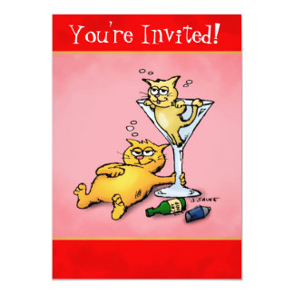 Cocktail Kittens Holiday Party Invitation