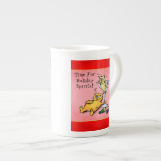 Cocktail Kittens Holiday Spirits Cartoon Tea Cup