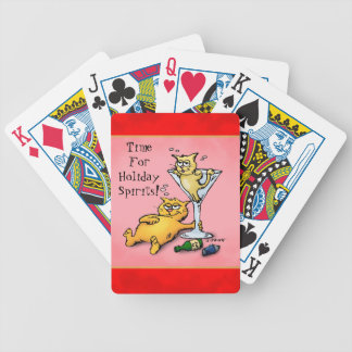 Cocktail Kittens Holiday Spirits Bicycle Playing Cards