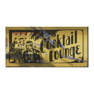 Cocktail Lounge Canvas Gallery Wrap Canvas