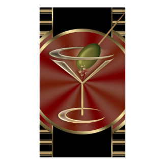 Cocktail Lounge Social Profile Double-Sided Standard Business Cards (Pack Of 100)