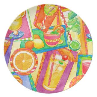 Cocktail Mania Melamine Plate