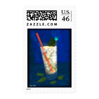 Cocktail Mint Julep Postage Stamp