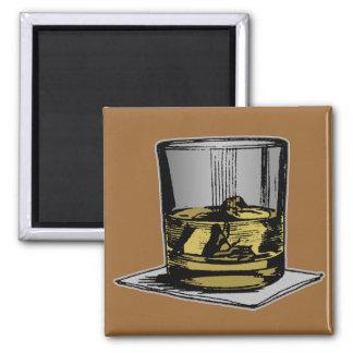 Cocktail & Napkin Design 2 Inch Square Magnet