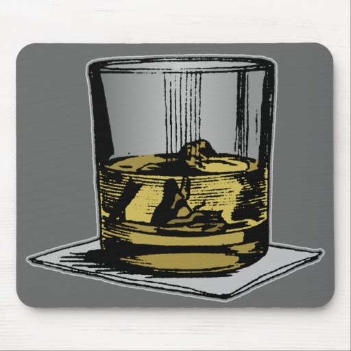 Cocktail & Napkin Design Mouse Pad