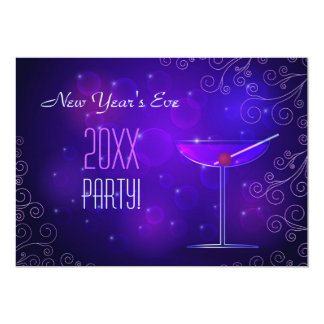 "Cocktail New Year's Party Invitation 5"" X 7"" Invitation Card"