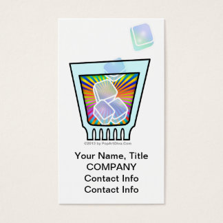 COCKTAIL - OLD FASHIONED - ROCKS GLASS BUSINESS CARD