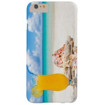 Beach Themed Cocktail on the Beach II Barely There iPhone 6 Plus Case