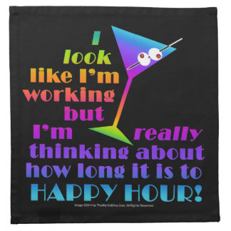 Cocktail or Dinner Napkins, How Long to Happy Hour Cloth Napkin