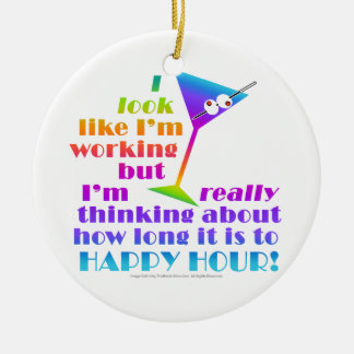 Cocktail Ornaments - How Long to Happy Hour