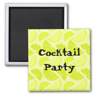 Cocktail Party 2 Inch Square Magnet