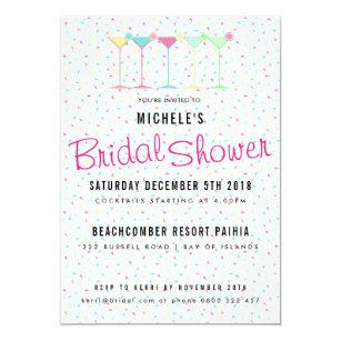 Cocktail Bridal Shower Invitations Announcements Zazzle
