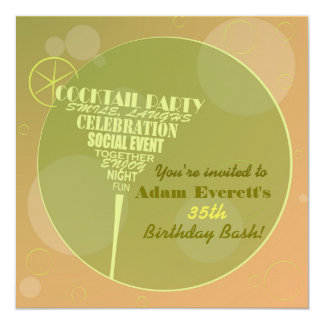 Cocktail Party design Card
