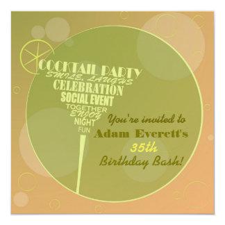 Cocktail Party design Invitation
