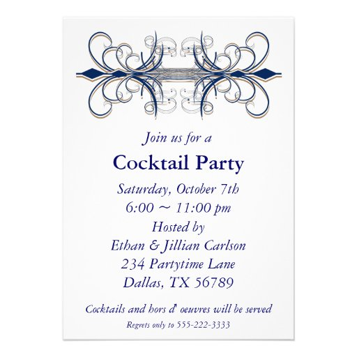 Cocktail Party Invitation for your inspiration to make invitation template look beautiful