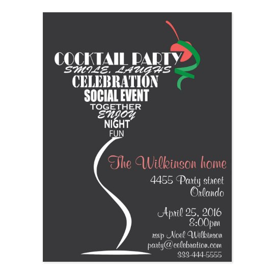 Cocktail Party invitation card design – Party Invitation Card Design