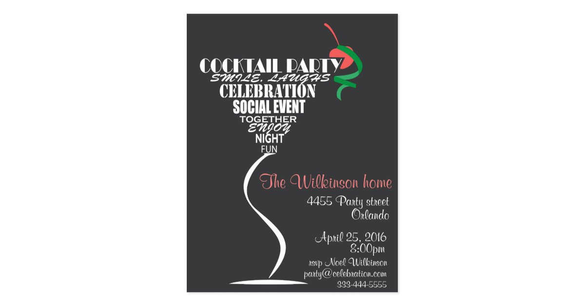 Cocktail Party invitation card design – Coctail Party Invitation