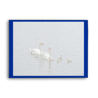 Cocktail Party Invitation Envelope - Swan Family
