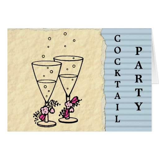 Cocktail Party Invitation Greeting Cards