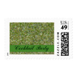 cocktail party invitation postage stamp