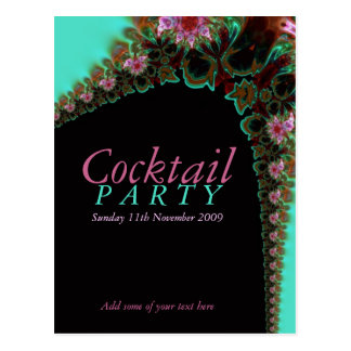 Cocktail Party Invitation template Postcard