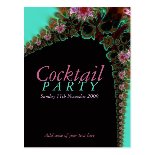 Cocktail party invitation template postcard zazzle for Cocktail party invite template
