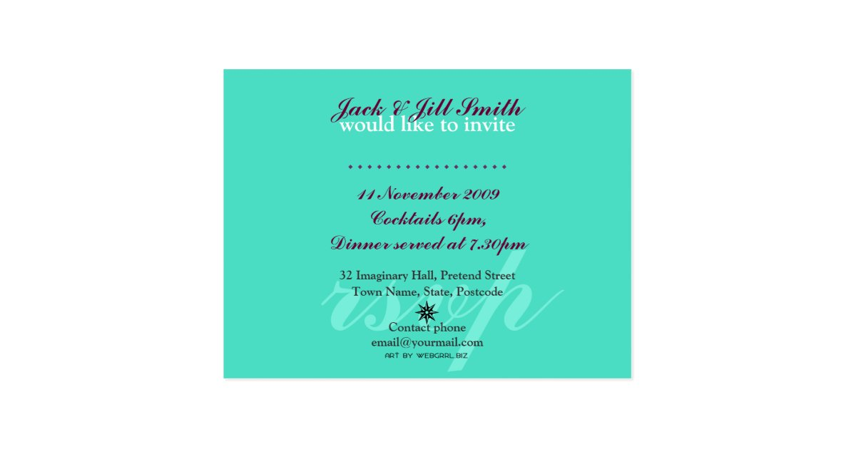 Cocktail Party Invitation Template Postcard | Zazzle