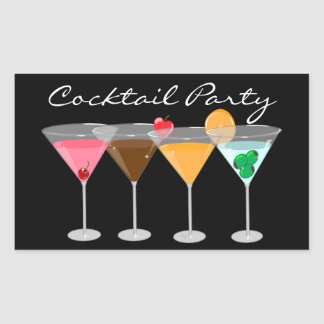 Cocktail Party Martini Stickers