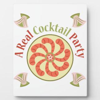 Cocktail Party Photo Plaque