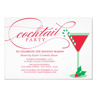 Cocktail Party | Red Drink Card