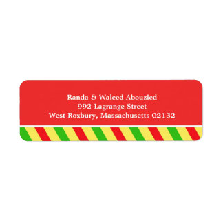 Cocktail Party Return Address Labels
