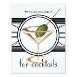 "Cocktail Party Small Invitations 4.25"" X 5.5"" Invitation Card"