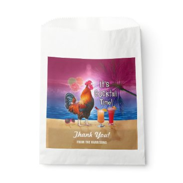 Beach Themed Cocktail Party Tropical Rooster Funny Summer Beach Favor Bag