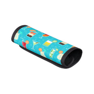 Cocktail Pattern on Teal Background Handle Wrap