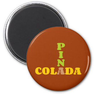 Cocktail Pina Colada 2 Inch Round Magnet