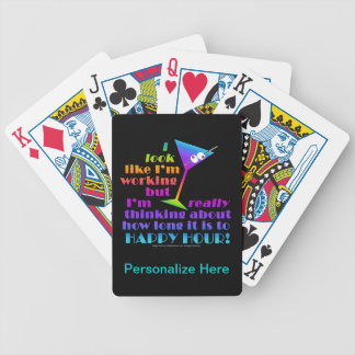 Cocktail Playing Cards - How Long to Happy Hour