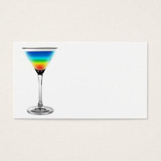 cocktail - rainbow colors business card