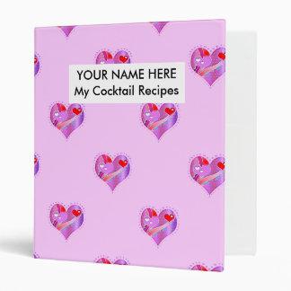 Cocktail Recipe Binder - Pink Heart, Valentine