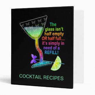 COCKTAIL RECIPE BINDERS - GLASS HALF FULL