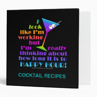 Cocktail Recipe Binders - How Long to Happy Hour