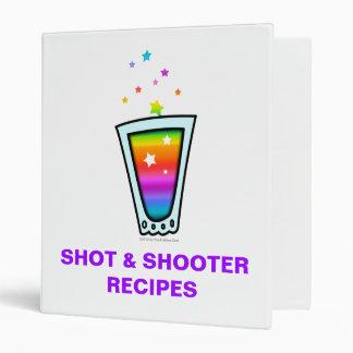 COCKTAIL RECIPE BINDERS - RAINBOW SHOT GLASS