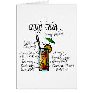 Cocktail Recipe Mai Tai Card